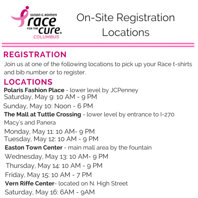 On-Site Registration Locations